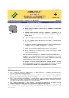 Komunikat o sytuacji społeczno-gospodarczej województwa śląskiego, 2004, nr4