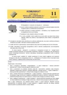 Komunikat o sytuacji społeczno-gospodarczej województwa śląskiego, 2004, nr11