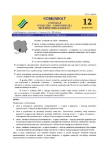 Komunikat o sytuacji społeczno-gospodarczej województwa śląskiego, 2004, nr12