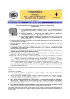 Komunikat o sytuacji społeczno-gospodarczej województwa śląskiego, 2006, nr4