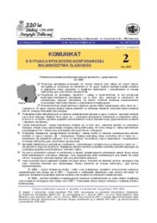Komunikat o sytuacji społeczno-gospodarczej województwa śląskiego, 2009, nr2