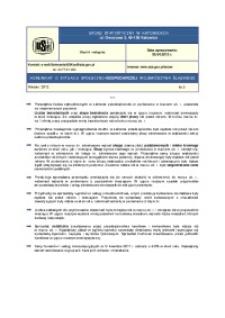 Komunikat o sytuacji społeczno-gospodarczej województwa śląskiego, 2012, nr3