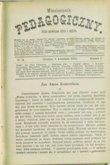 Miesięcznik Pedagogiczny, 1892, R. 1, nr 4
