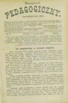 Miesięcznik Pedagogiczny, 1892, R. 1, nr 8