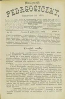 Miesięcznik Pedagogiczny, 1892, R. 1, nr 10
