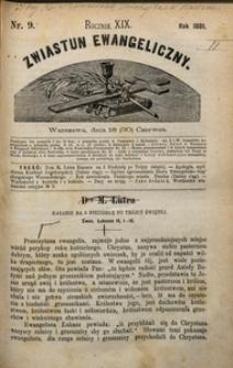 Zwiastun Ewangeliczny, 1881, nr9
