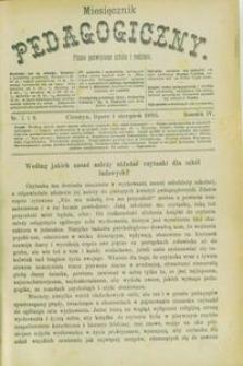 Miesięcznik Pedagogiczny, 1895, R. 4, nr 7/8