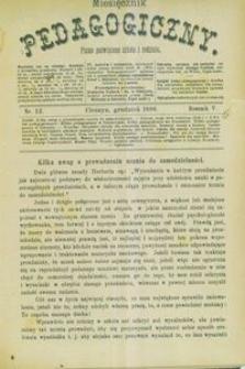 Miesięcznik Pedagogiczny, 1896, R. 5, nr 12