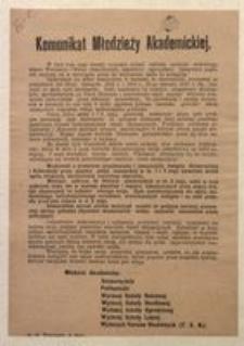 Komunikat Młodzieży Akademickiej, m. st. Warszawa w maju