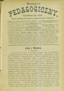 Miesięcznik Pedagogiczny, 1898, R. 7, nr 10/12