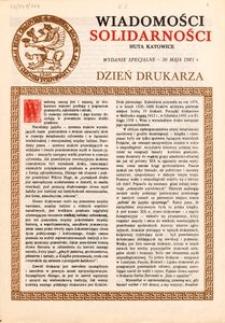 Wiadomości Solidarności, 1981, Wydanie specjalne. Dzień drukarza