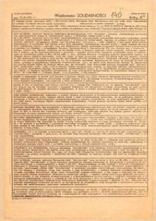 Wiadomości Solidarności, 1981, nr140