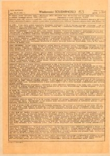 Wiadomości Solidarności, 1981, nr153