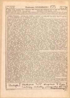 Wiadomości Solidarności, 1981, nr173