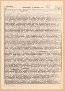 Wiadomości Solidarności, 1981, nr189