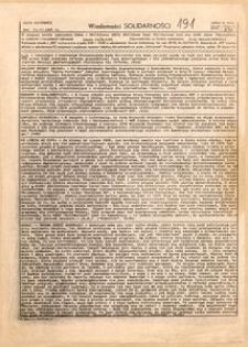 Wiadomości Solidarności, 1981, nr191