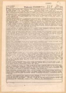 Wiadomości Solidarności, 1981, nr227