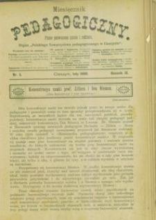 Miesięcznik Pedagogiczny, 1900, R. 9, nr 2