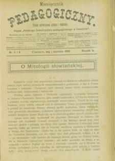 Miesięcznik Pedagogiczny, 1900, R. 9, nr 5/6