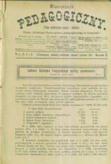 Miesięcznik Pedagogiczny, 1901, R. 10, nr 9/12