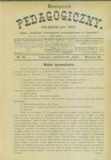 Miesięcznik Pedagogiczny, 1903, R. 12, nr 10