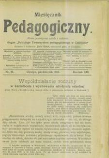 Miesięcznik Pedagogiczny, 1904, R. 13, nr 10