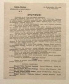 Druhowie! 14 Października 1916 roku. st. m. Warszawa