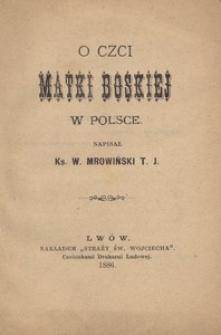 O czci Matki Boskiej w Polsce