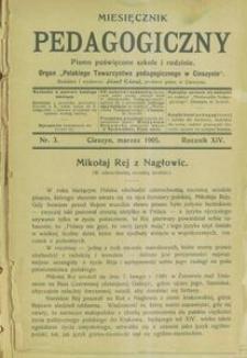 Miesięcznik Pedagogiczny, 1905, R. 14, nr 3