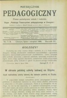 Miesięcznik Pedagogiczny, 1906, R. 15, nr 7/8