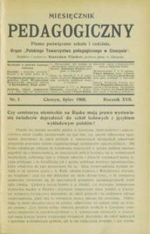 Miesięcznik Pedagogiczny, 1908, R. 17, nr 7