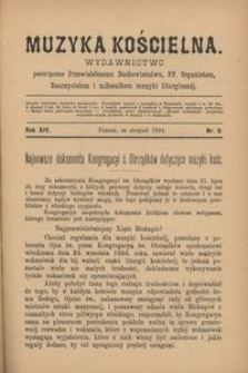 Muzyka Kościelna, 1894, R. 14, nr 8
