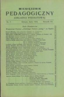 Miesięcznik Pedagogiczny, 1910, R. 20 [właśc. 19], nr 7/8