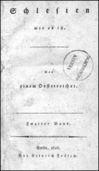 Schlesien wie es ist. Bd. 2