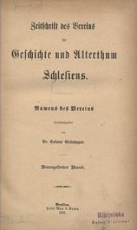 Zeitschrift des Vereins für Geschichte und Alterthum Schlesiens, 1885, Bd. 19