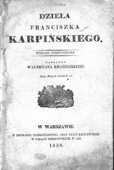 Dzieła Franciszka Karpińskiego