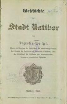 Geschichte der Stadt Ratibor