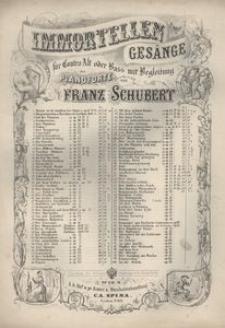 Immortellen Gesänge für Contra-Alt oder Bass mit Begleitung des Pianoforte. Der Musensohn Op. 92