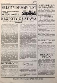 Biuletyn Informacyjny, 1990, nr27