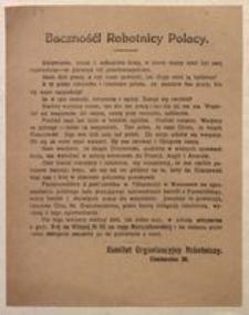 Baczność! Robotnicy Polacy. Komitet Organizacyjny Robotniczy