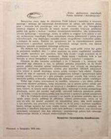 [Odezwa]. Warszawa, w listopadzie 1916 roku.
