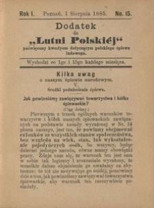 """Dodatek do """"Lutni Polskiej"""", R. 1, 1885, nr 15"""