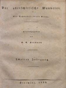 Der Oberschlesische Wanderer, 1829, Jg. 2, nr1