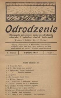 Odrodzenie, 1923, R. 2, z. 11