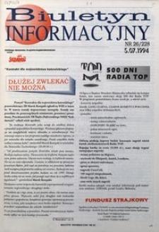 Biuletyn Informacyjny, 1994, nr 26