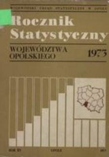 Rocznik Statystyczny Województwa Opolskiego, 1973, R. 15