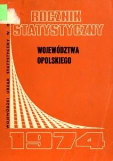 Rocznik Statystyczny Województwa Opolskiego, 1974, R. 16