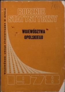 Rocznik Statystyczny Województwa Opolskiego, 1978, R. 2