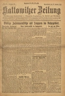 Kattowitzer Zeitung, 1923, Jg. 55, nr21