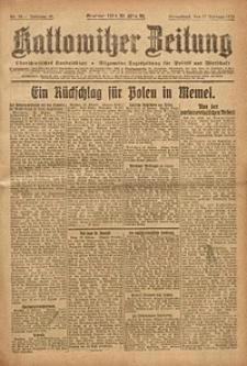 Kattowitzer Zeitung, 1923, Jg. 55, nr38